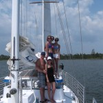 people enjoying sailing trip in orange beach