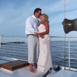 orange beach wedding sailing cruise