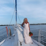 wedding on sailboat in gulf shores
